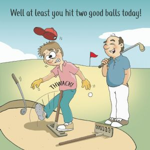 CAN109  Funny Golf Card
